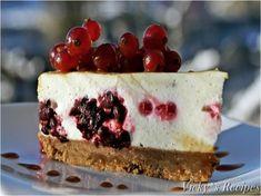 Cheesecake cu mascarpone, fructe de padure și caramel - imagine 1 mare