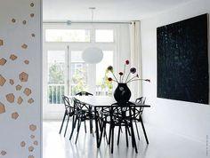 minimal, white & black with texture walls