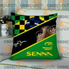 Sr5-ayrton Senna Brazil F1 Logo Cushion Pillow Case
