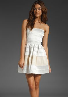 PLEASURE DOING BUSINESS Petticoat Dress in Peach/Cream at Revolve Clothing - Free Shipping!