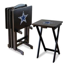 I want these for our basement nfl dallas cowboys bar stools set dallas cowboys tv trays with stand watchthetrailerfo