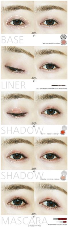 korean makeup - her eyes are beautiful
