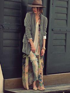silk kimono under jacket