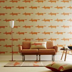 Scion are a fresh, new British brand who aim to make their own distinctive mark through their original and unique styles of wallpaper and home accessories. Scion wallpaper collections are colourful, fun and guarantee to cheer up any interior. Scandi Wallpaper, Kids Wallpaper, Modern Wallpaper, Designer Wallpaper, Orange Wallpaper, Silver Wallpaper, Nursery Wallpaper, Wallpaper Designs, Wallpaper Ideas