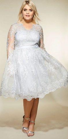 07631f4246e 48 Plus Size Party Dresses with Sleeves - Plus Size Wedding Guest Dresses -  Plus Size