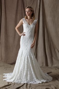 2017 New Fashionable Romantic High Quality Lace V neck Mermaid Wedding Dress Bridal Gown Free Shipping Custom Made Size