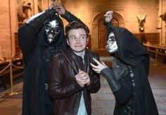 Chris Colfer and Death Eaters!!! he's a HP geek!
