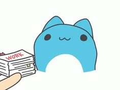 The perfect Bugcat Capoo Work Animated GIF for your conversation. Cute Animal Drawings, Kawaii Drawings, Cute Drawings, Cute Kawaii Animals, Kawaii Cat, Chibi Cat, Gato Gif, Cute Love Gif, Cute Comics
