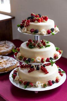 Hochzeitstorte, Torte, Sommer, Hochzeit, Cremetorte