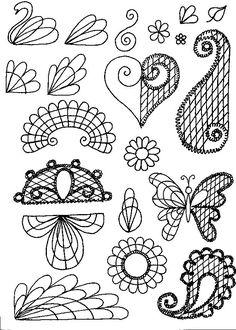 SCHOOL OF SUGARCRAFT: designs for piping with chocolate - disegni da ricalcare invece con cioccolato