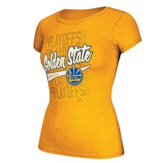 Golden State Warriors Ladies On Court 2014 Adidas Playoff Tee  http://www.warriorsteamstore.com/gsw1011011414.html