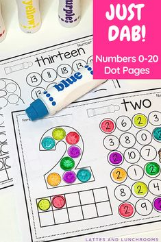 These pages will help young learners identify and form Numbers Each number page includes dab t Early Finishers Activities, Preschool Learning Activities, In Kindergarten, Toddler Activities, Preschool Activities, Kids Learning, Teaching Ideas, Numbers Preschool, Learning Numbers