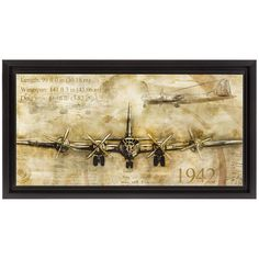 Give your work space an interesting look with Airplane Floating MDF Framed Art. Featuring a floating airplane illustration with a hand-drawn look, this vintage-inspired framed decor will liven up thos