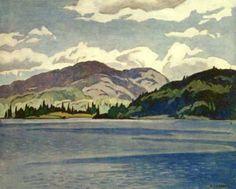 Alfred Joseph Casson. Canadian (1898 - 1992) - The Group of Seven - Kamaniskeg Lake Summer.