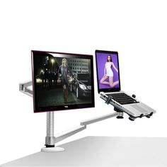 98.00$  Buy here - http://aliv0n.shopchina.info/1/go.php?t=32789352630 - free shipping Multimedia Desktop Dual Arm for 25inch LCD Monior Holder+ Laptop Holder Stand Full Motion Dual Monitor Arm OA-7X   #magazineonline