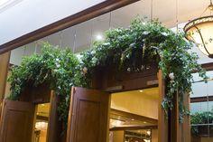 Lush door greenery i
