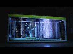 Gym Treadmill Blinds - 3D LED Installation by Rhizomatiks