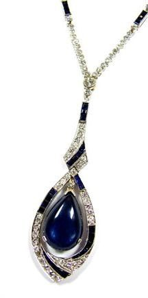 A CLASSIC ART DÉCO SAPPHIRE AND DIAMOND NECKLACE CIRCA 1930