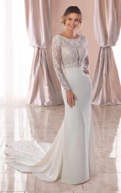 Stella York Wedding Dresses - Search our photo gallery for pictures of wedding dresses by Stella York. Find the perfect dress with recent Stella York photos. Fairy Wedding Dress, Making A Wedding Dress, Classic Wedding Dress, Princess Wedding Dresses, Dream Wedding Dresses, Wedding Gowns, Princess Bridal, Mermaid Wedding, Wedding Blog