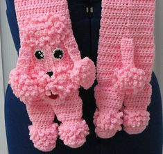 Ravelry: Pink Poodle Scarf and Tote Set by Donna Collinsworth