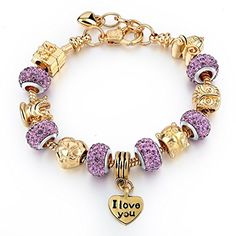 "CHOKER Gold Plated Snake Chain Glass Crystal Beads ""I Love You"" Charm Beaded Bracelets for Women Choker http://www.amazon.com/dp/B0191EIITK/ref=cm_sw_r_pi_dp_tZ3Gwb0AYFZT2"