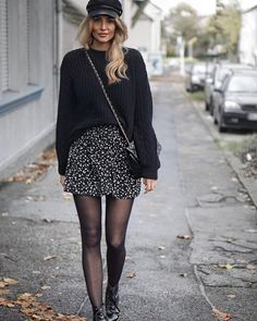 140 delicate black winter outfit ideas for women - 140 delicate black winter or . - 140 delicate black winter outfit ideas for women to try 140 delicate black winter outfit ideas for - Fall Winter Outfits, Autumn Winter Fashion, Skirt Outfits For Winter, Black Skirt Outfits, Mode Outfits, Casual Outfits, Geek Chic Outfits, Girly Outfits, Looks Black