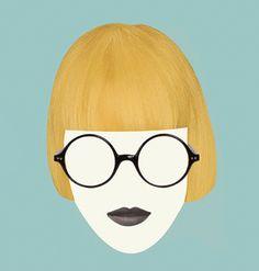eyewear illustration Iris Apfel style