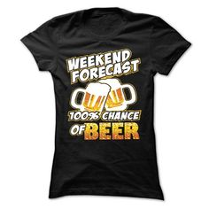 BEER FORECAST T Shirts, Hoodies. Get it now ==► https://www.sunfrog.com/No-Category/BEER-FORECAST.html?41382 $19
