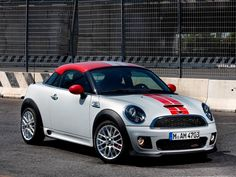 MINI Coupé John Cooper Works.    Grey w/ red...so me!