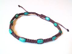 Macrame anklet by CaiMonkeyCrafts on Etsy