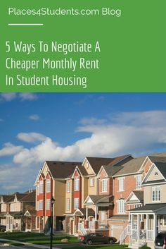 Looking to save some money on rent? Here's five ways to potentially save some money on rent! [BLOG] #studenthousing