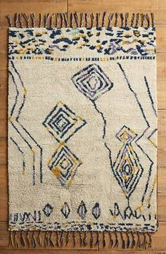Listing for a brand new Anthropologie rug. Still in original plastic wrapping never used! Perfect for a kitchen, bathroom or next to a bed. 2x3 Mengaso rug in neutral motif. Hand knotted rug made of...