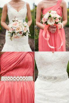 Coral bridesmaid dresses » Ashley Biess Photography