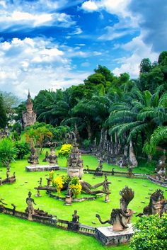 Buddha Park, Vientiane, Laos | Easy Planet Travel - World travel made simple Voyage Au Laos, Future Travel, Trip Planning, Buddha Temple, Travel Destinations, Places To Travel, Vietnam, Laos Travel, Asia Travel