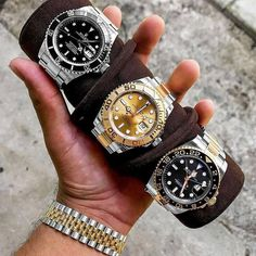 Got the world in my palm Sub Yacht-Master or GMT? Take your pick Email or Call us for pricing!