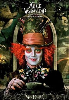 Mad Hatter-Alice in Wonderland-Tim burton Beau Film, Love Movie, I Movie, Tarrant Hightopp, Film Tim Burton, Johny Depp, Johnny Depp Movies, The Lone Ranger, Kino Film
