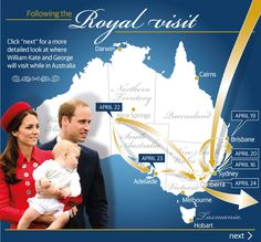 It was just another day in the Duke and Duchess of Cambridge's extraordinary tour Down Under (with lil' Prince George who will be eight months old when in Australia – a month younger than Prince William was when he headed Down Under with Prince Charles and Princess Diana in 1983).
