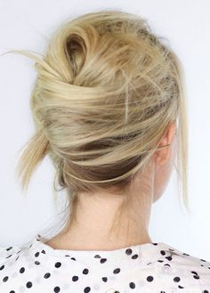 Save this hair tutorial to give yourself a textured French twist hairstyle.