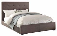 Homelegance 1890FN-1 Full Size Upholstered Bed, Grey Fabric
