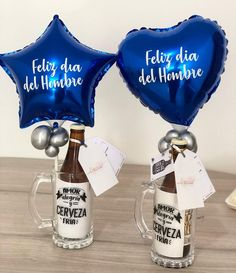 Diy Father's Day Crafts, Father's Day Diy, Fathers Day Crafts, Unique Birthday Gifts, Birthday Diy, Fathers Day Baskets, Valentine Boxes For School, Hand Sewing Projects, Balloons