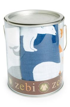 Zebi Baby 'Bucket of Burpies' Organic Cotton Muslin Burp Cloths (3-Pack) available at #Nordstrom