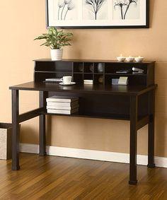Cappuccino Denia Desk & Mini Hutch by Furniture of America #zulily #zulilyfinds