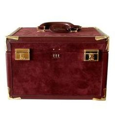 b3b03be3a85 Cartier Bordeaux Suede Leather Train Case Travel Bag with Dust Bag + Box  1975. Tana Hargest · 1stdibs Purses
