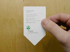 dual business card for landscaping business