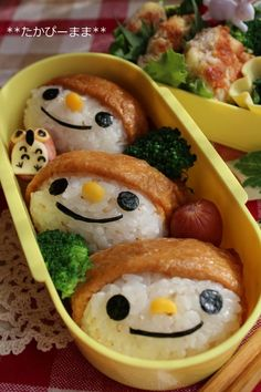 A corn nose is nice! Three 'Inarizushi' Brothers with an Owl Weenie Bento Lunch|弁当