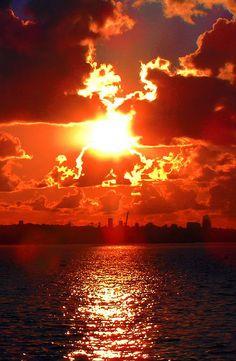 Looks like fire in the sky!