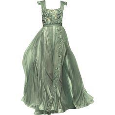 Sage Green Dress, Green Gown, Green Evening Gowns, Evening Dresses, Long Dresses, Haute Couture Gowns, Couture Dresses, Dress Png, Fantasy Dress