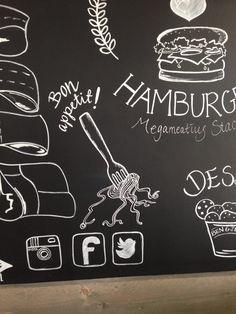 Gedeelte van een krijtbord, die ik heb gemaakt voor een restaurant in lelystad. Happy with