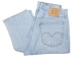 Vintage Levis 615 Jeans Orange Tab 90s Straight Leg Stonewash Light Blue W35 L34 by BlackcatsvintageUK on Etsy