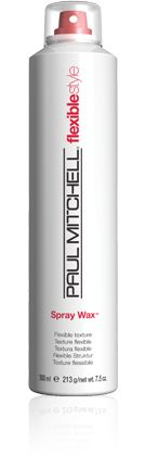 LIGHT HOLD:  Paul Mitchell Flexible Style, Spray Wax.  Best for thick/coarse hair that's dry.  Can be used for smoothing or for texture.